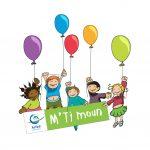 Logo MTimoun enfants tenant des ballons de baudruche