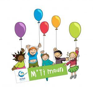 Logo MTimoun enfants tenant des ballons de baudruchehe