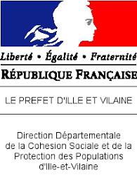 Logo de la Direction Départemenatale de la Cohésion Sociale et de la Protection des Populations d'Ille et Vilaine